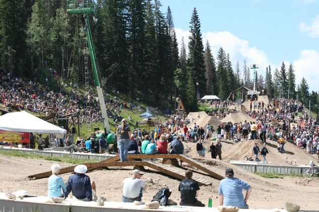 The slopestyle course drew the the crowds at Crankworx Colorado.
