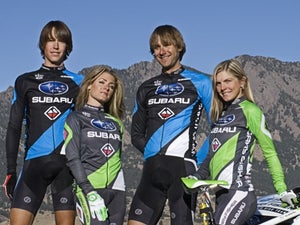 Sam Schultz, Willow Koerber, Jeremy Horgan-Kobelski and Heather Irmiger of the Subaru-Gary Fisher Mountain Bike Team.