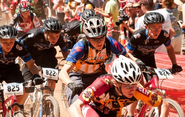 Freshman racers in the NorCal High School Mountain Bike League tearing it up. Courtesy photo