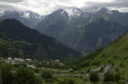 2001 Tour de France, the view from the top of L'Alpe d'Huez