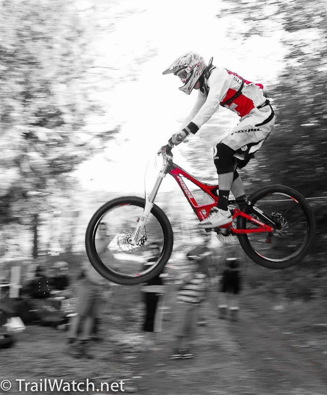 Flyin' high at the Windham, New York World Cup stop. Photo by Dave McElwaine