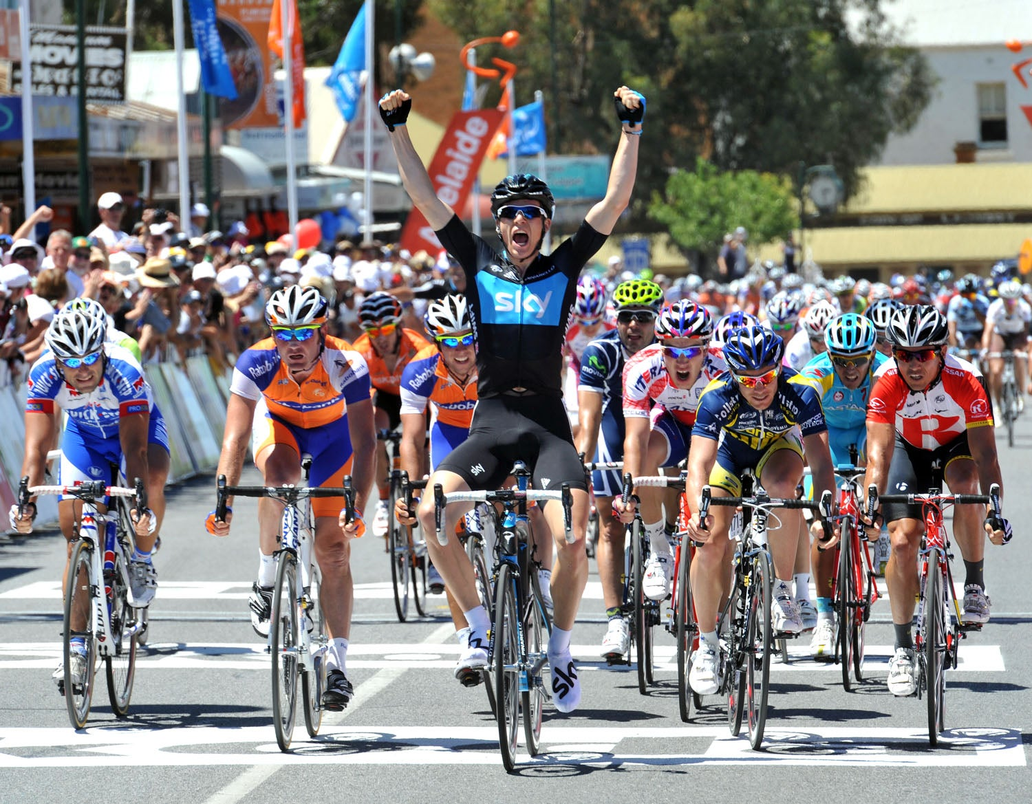 2011 Tour Down Under, Stage 2: Swift takes the win.