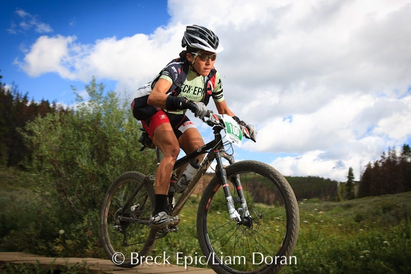 Pua Mata on her way to winning the 2010 Breck Epic.