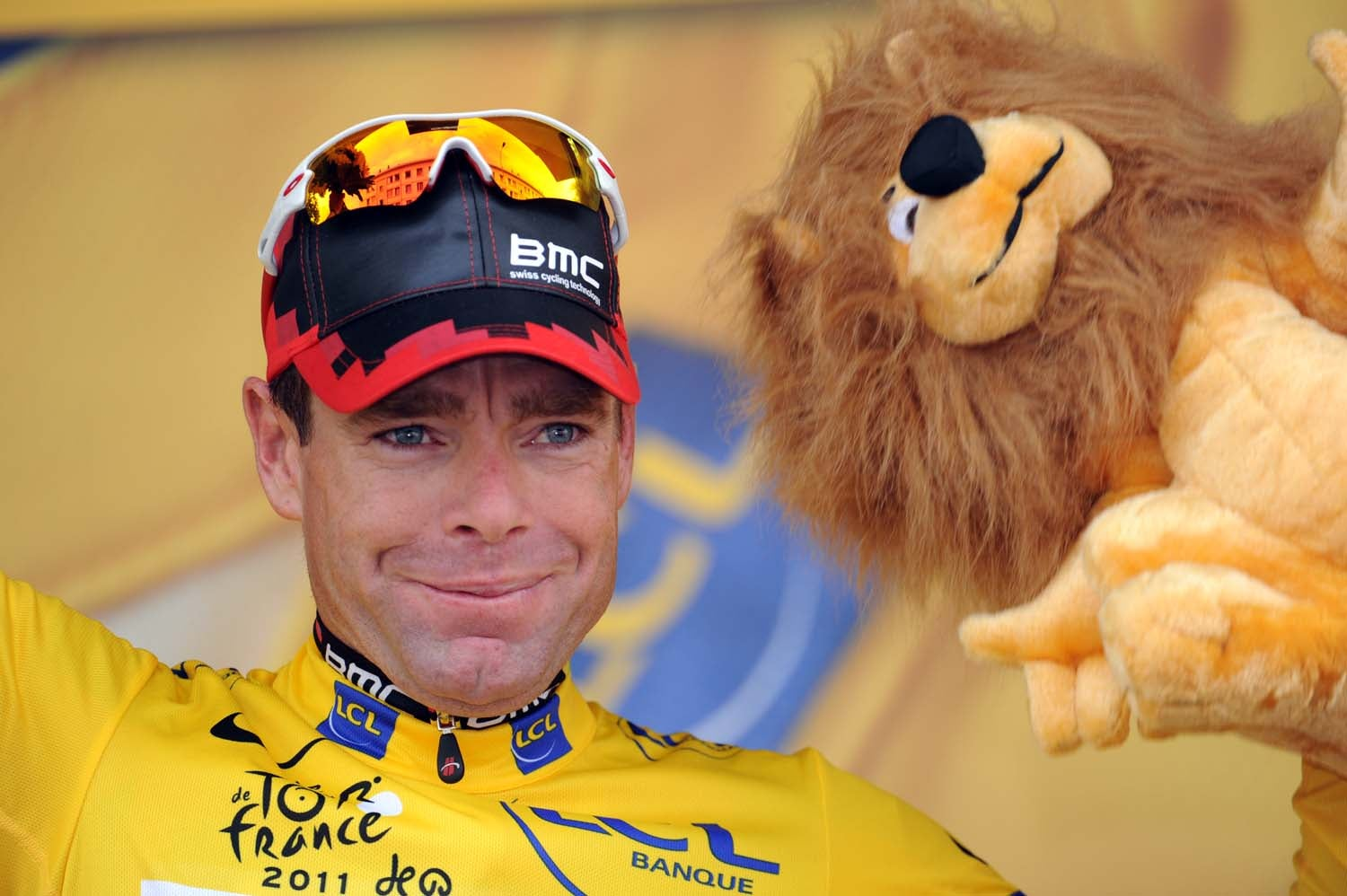 2011 Tour de France, stage 20, Cadel Evans in yellow
