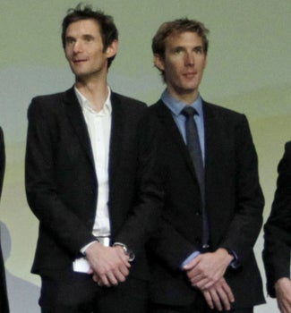 2012 Tour de France route introduction. Frank and Andy Schleck