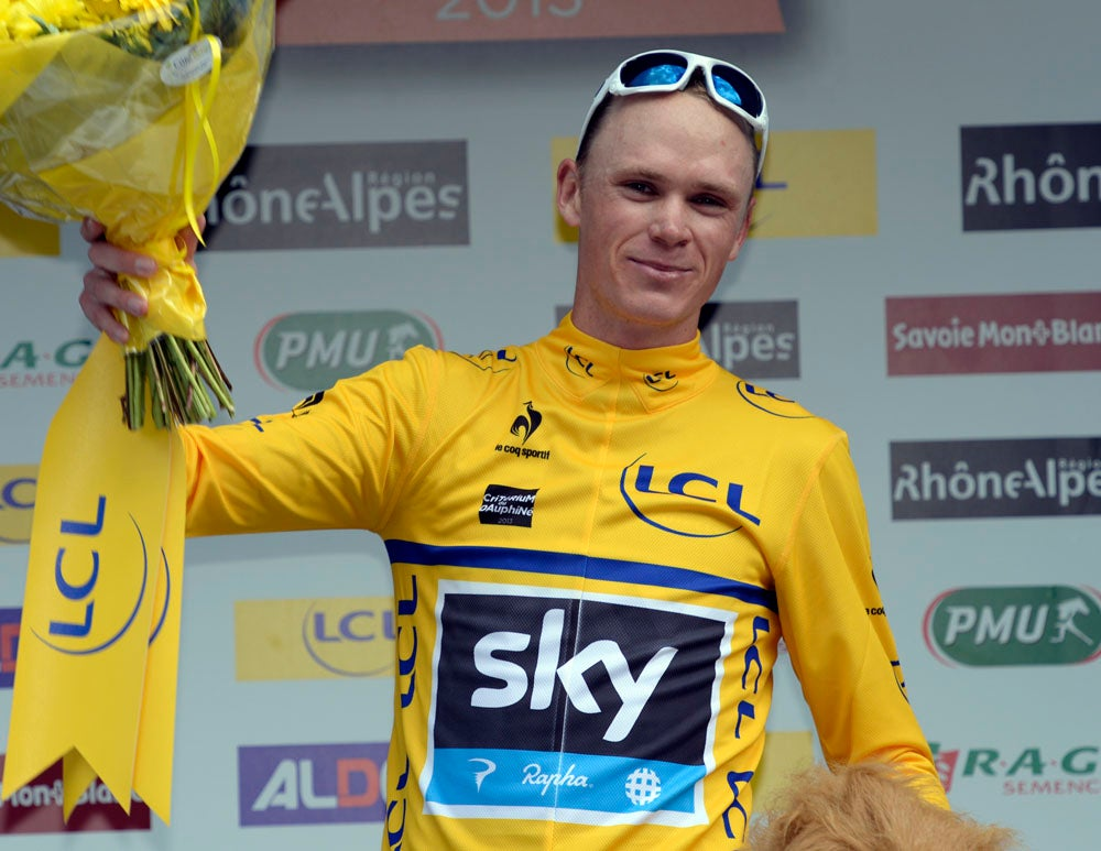 Froome rides into the yellow jersey at the Criterium du Dauphine