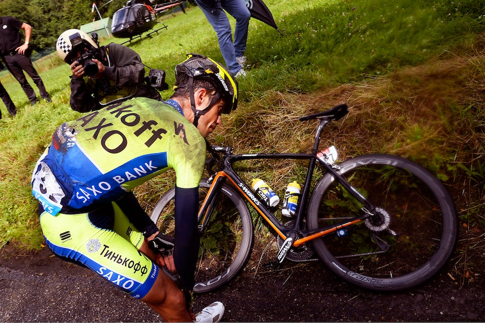 Painful exit latest chapter in Contador's rough and tumble Tour history