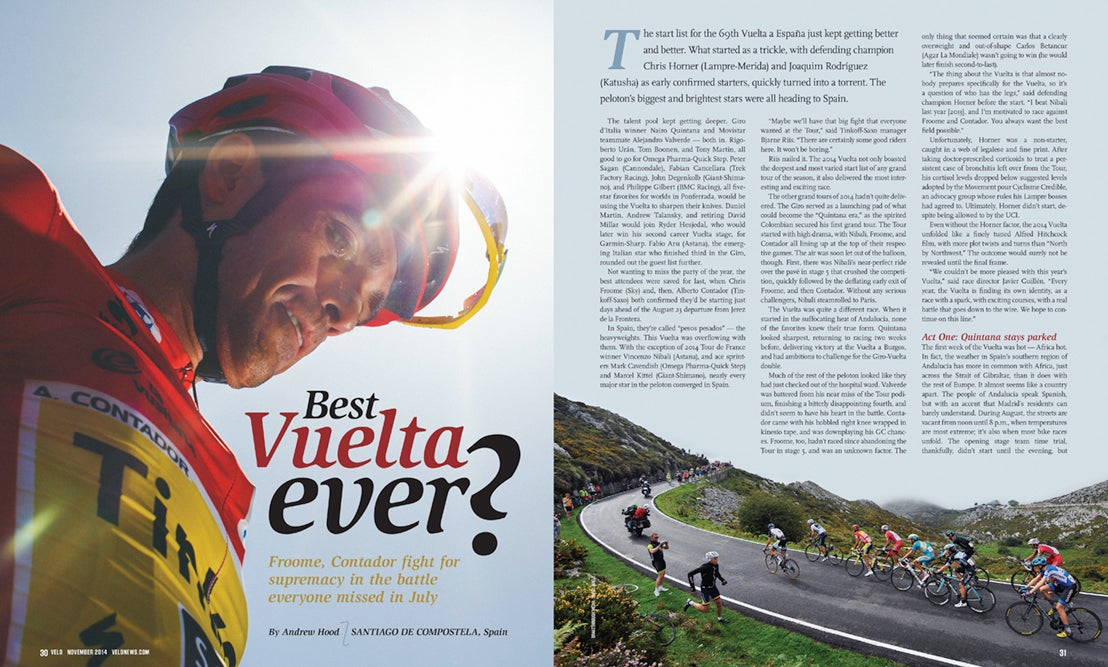 Best Vuelta ever? Andy Hood looks back on a race of redemption for Alberto Contador, as the Spanish star returned to winning after recovering from a broken leg.