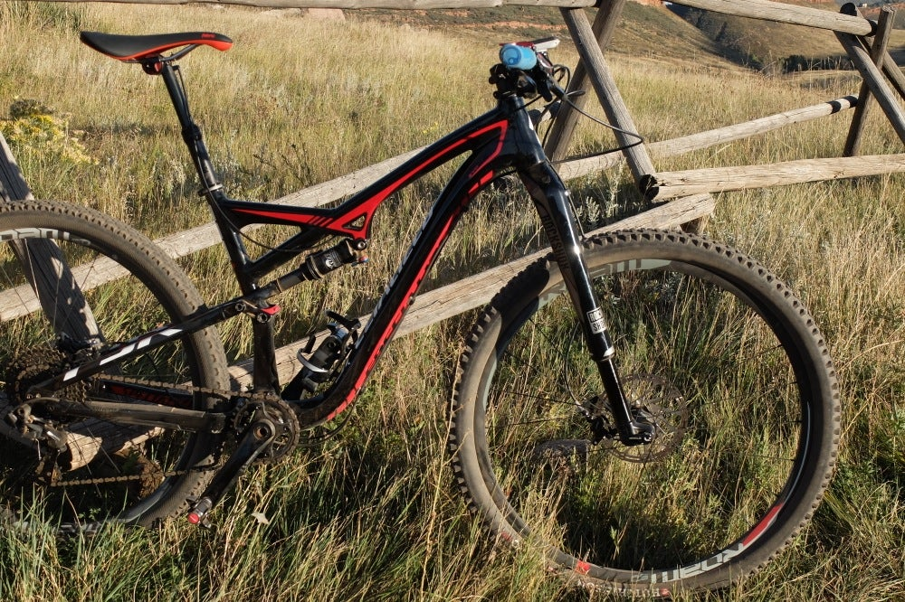 "We tested the 120mm version of the 29"" RS-1. Our Specialized Camber EVO was a wonderful candidate for the RS-1. Photo: Logan VonBokel 