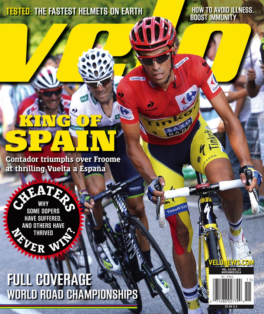 The November issue of Velo magazine is out, and it covers all of the late-season racing action, plus more.