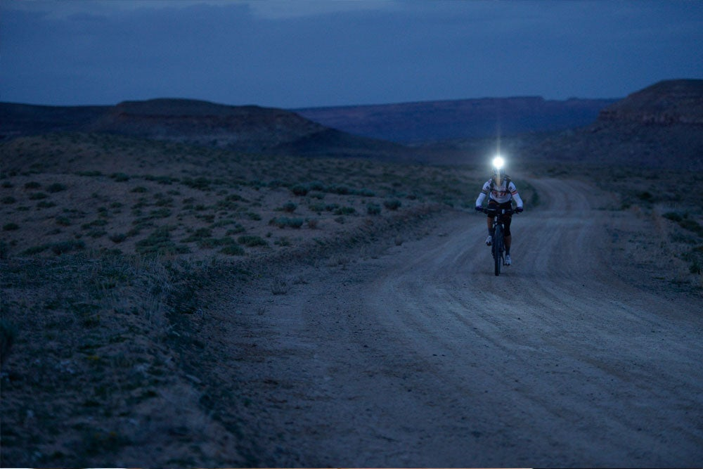 Rusch set the record on the Kokopelli trail, which traverses the desert between Fruita, Colorado, and Moab, Utah.