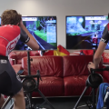 GCN races Jens Voigt on Zwift