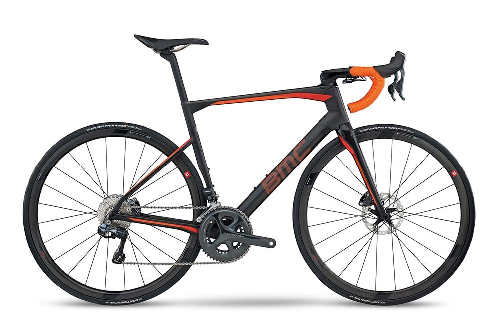 The new BMC Roadmachine bridges the gap between race and endurance bikes with versatile geometry and big tire clearance. Photo: BMC