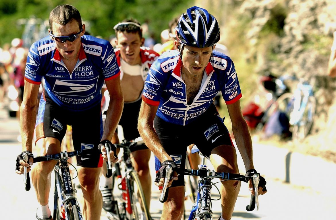 2003 Tour de France Stage 8 — Tyler Hamilton and Lance Armstrong
