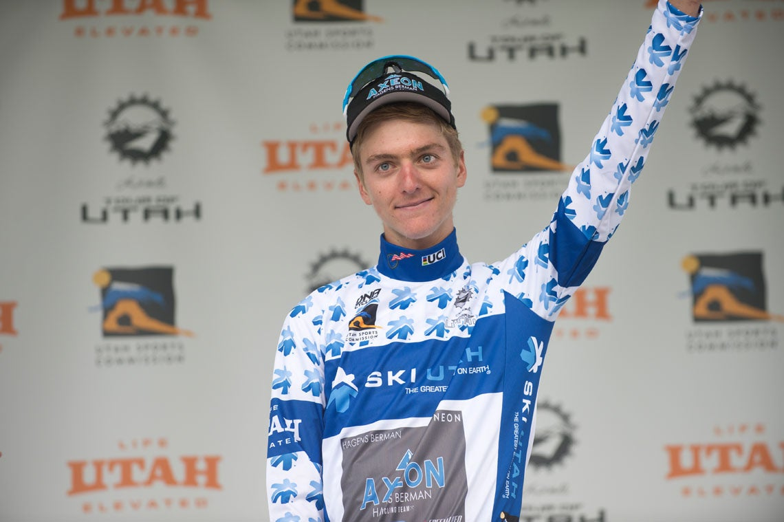 The real deal. At age 18, Adrien Costa proved he belonged in the pro peloton by winning two jerseys and finishing second on the final stage and GC. Photo: Casey B. Gibson | www.cbgphoto.com