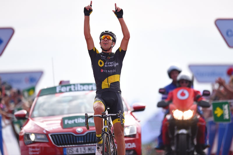Lilian Calmejane rode to his first grand tour stage victory in the Vuelta's stage 4. Photo: Tim De Waele | TDWsport.com