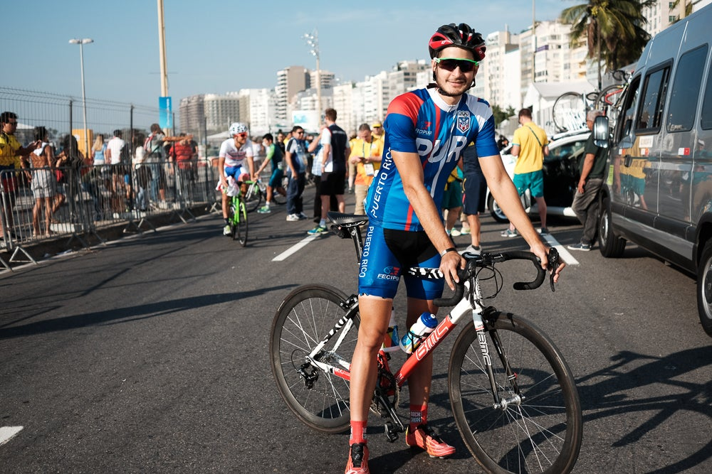 Brian Babilonia is Puerto Rico's first Olympic road race starter since 1996. Photo: Caley Fretz   VeloNews.com