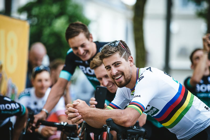 Peter Sagan is happy to be back at the Tour after being kicked out early in 2017