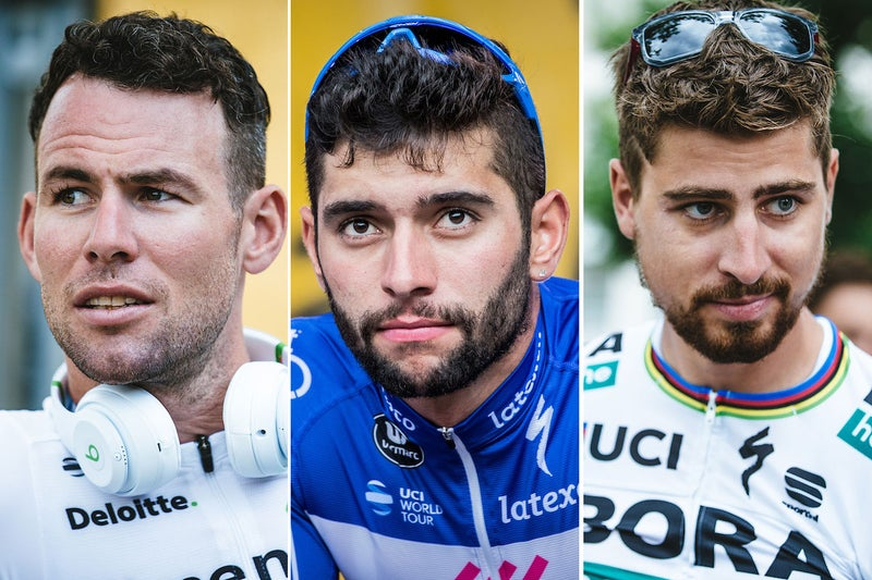 Fernando Gaviria edges sprint battle to win Tour de France stage four