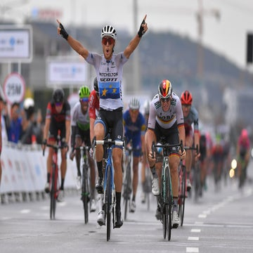 Guangxi stage 5: Trentin takes reduced sprint after hilly finale