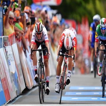 Tour Down Under: Philipsen wins stage 5 after Ewan is relegated