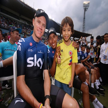 Colombian fans welcome Froome to season opener