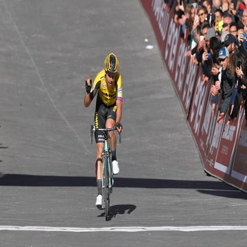 Van Aert third again, 'I hope to win Strade Bianche one day'