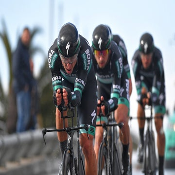 Gatto and Majka crash with pedestrian in Tirreno TTT