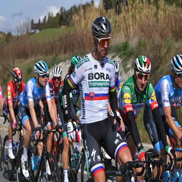 Sagan having a rough ride at Tirreno