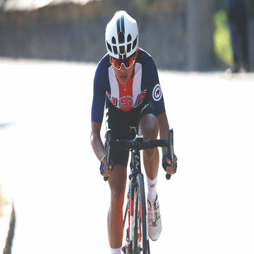 Coryn Rivera wears Stars and Stripes to Europe's biggest races