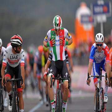 Giro d'Italia stage 3: Gaviria wins as Viviani is relegated