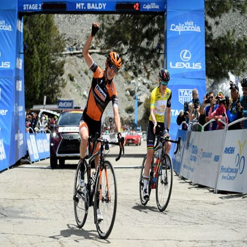 Tour of California: Hall wins on Mt. Baldy as van der Breggen holds lead