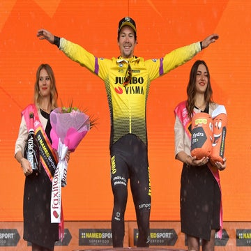 Roglic takes second time trial win of the Giro on rain-soaked mountain TT