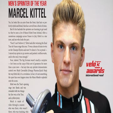 VN Archives: 2013 Men's Sprinter of the year – Marcel Kittel