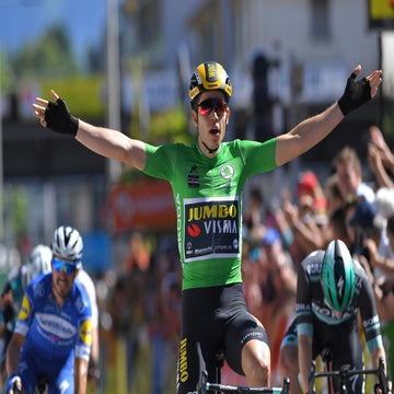 Dauphiné stage 5: Wout van Aert wins again, beating Bennett in sprint