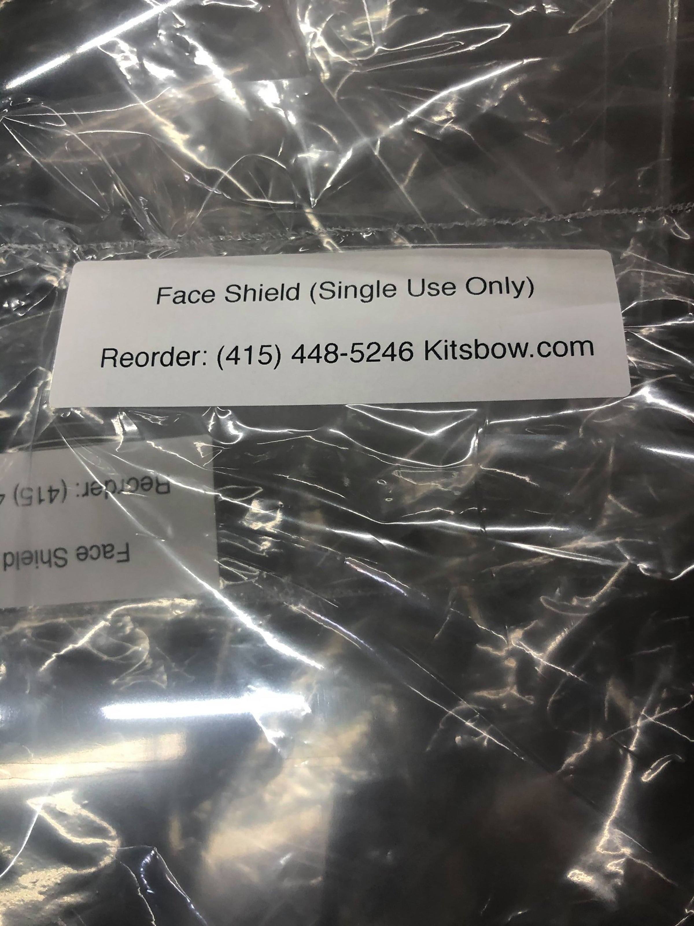 Packaged Kitsbow PPE faceshield