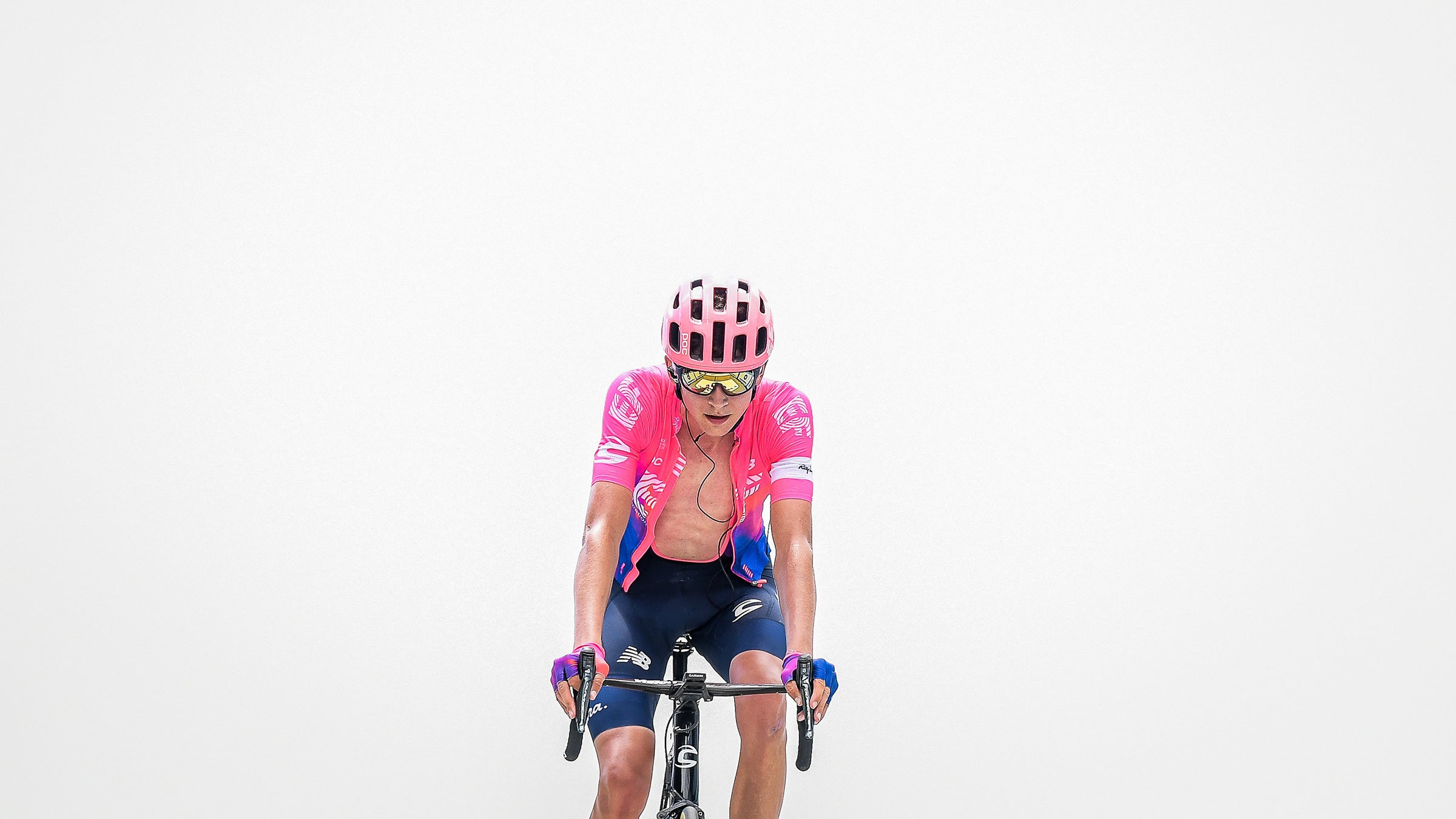 Joe Dombrowski of EF Pro Cycling at the top of Mount Ventoux