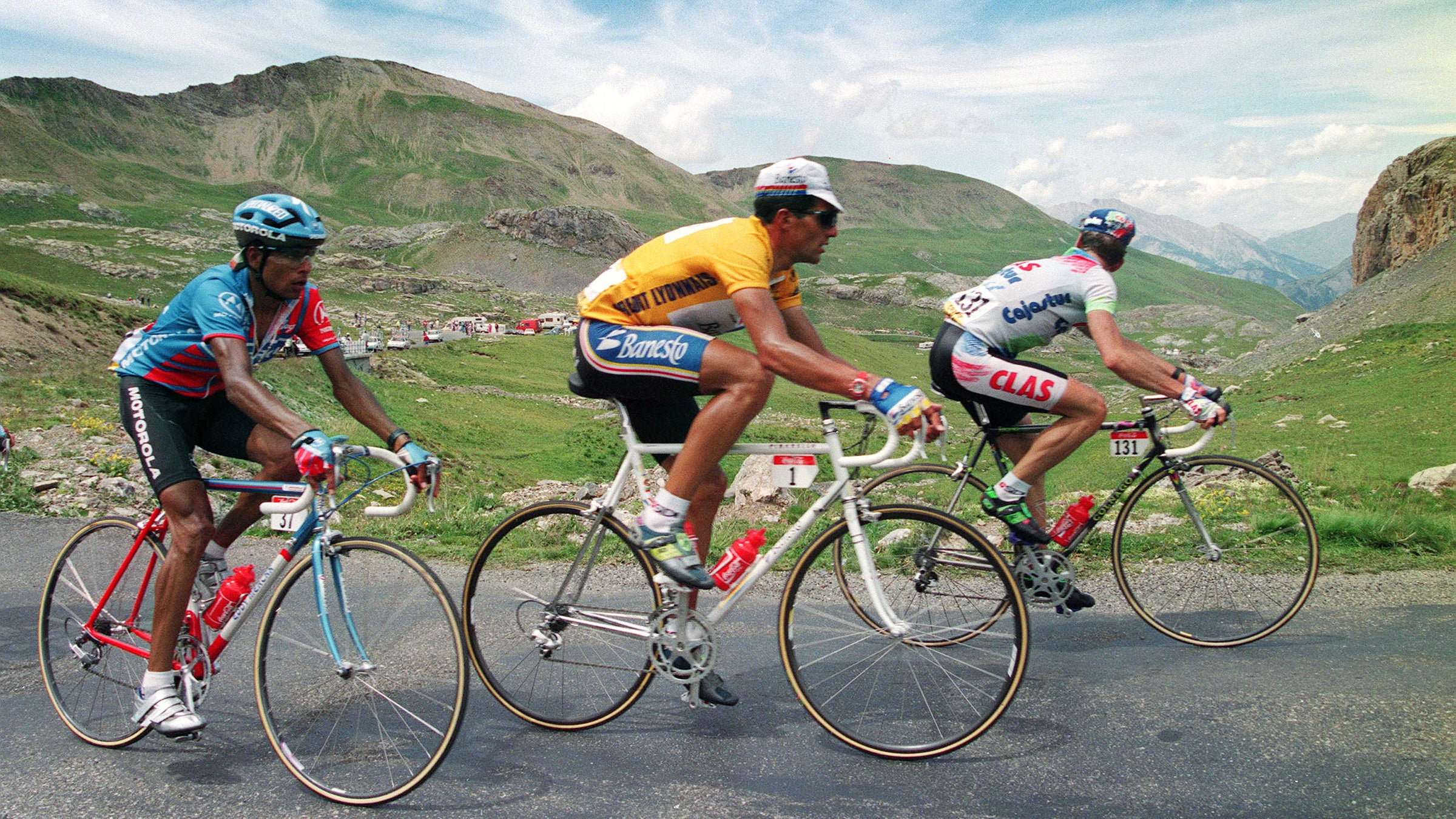 Miguel Indurain let his wheels to the talking