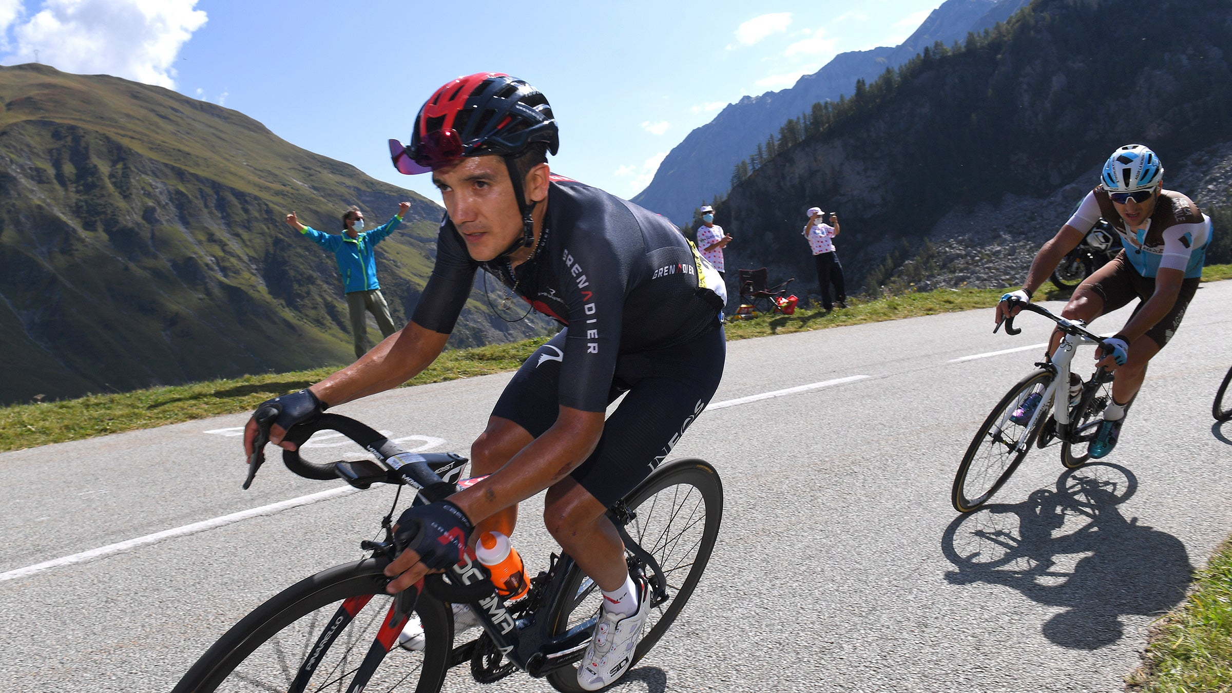 Richard Carapaz on stage 18 of the 2020 Tour de France