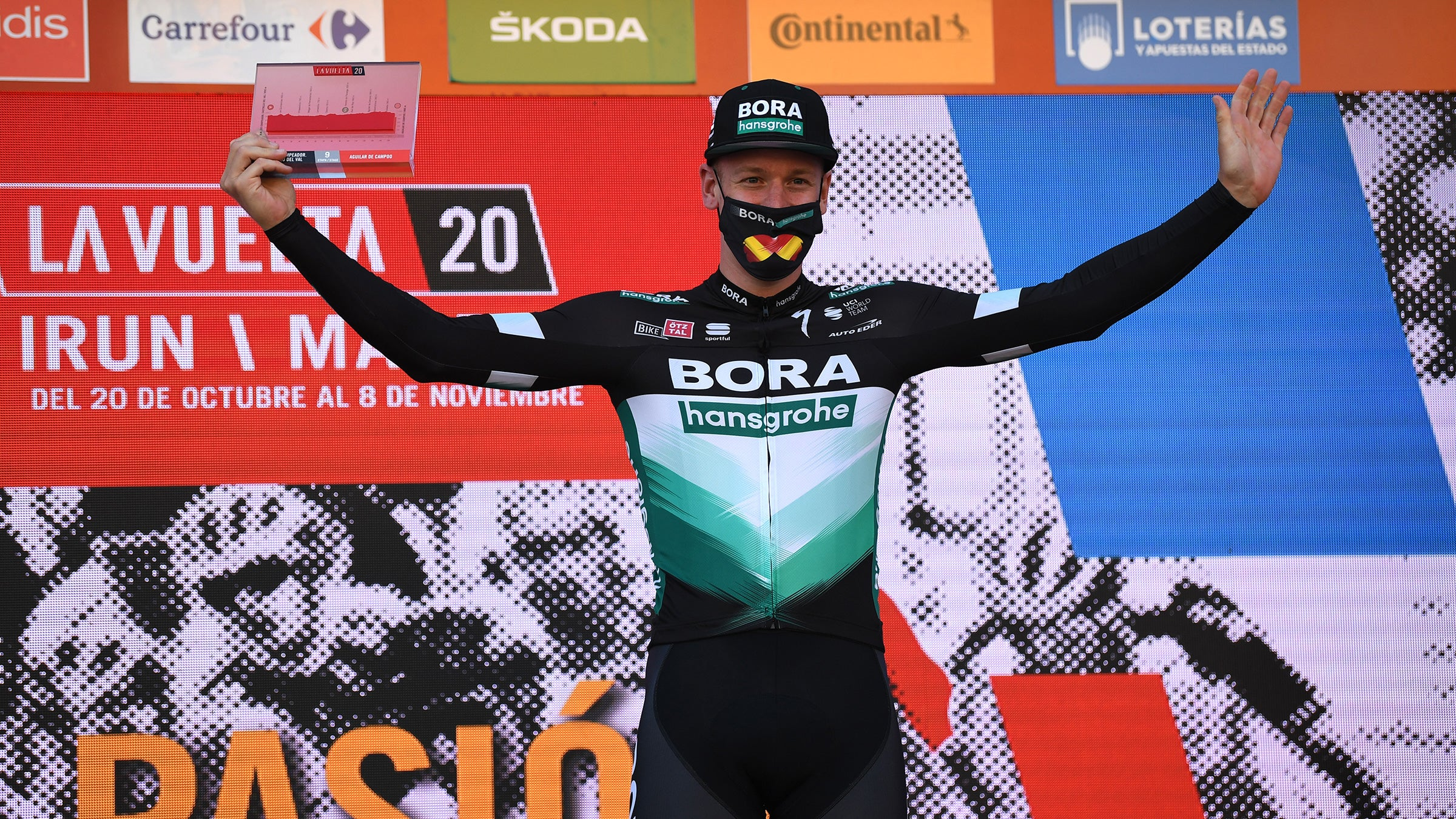 Pascal Ackermann was awarded the victory on stage 9 of the 2020 Vuelta a España