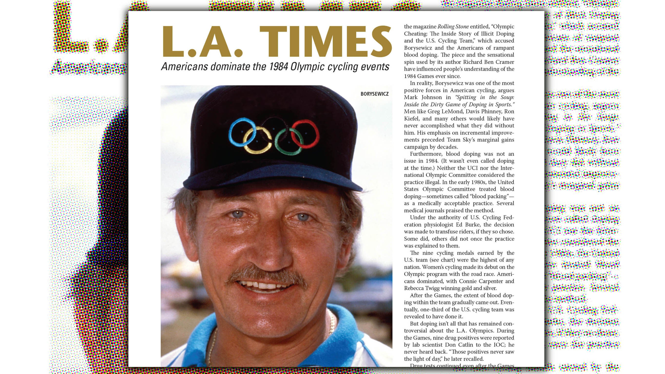 Eddie B and the Americans at the 1984 L.A. Olympics – VeloNews.com